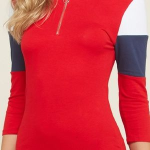 COLOR FOUR SEASONS Dresses - DRESS MINI HOODIE (O RING ZIPPER) RED